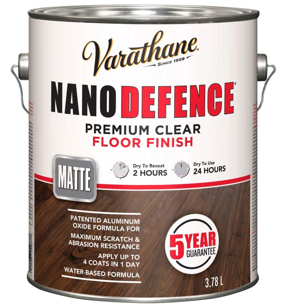 VARATHANE NANO DEFENCE PLANCHER BASE D'EAU MATTE 3.78L