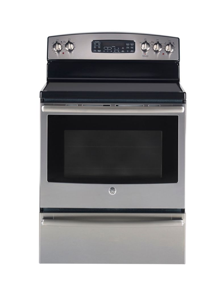 5 cu. ft. Free-Standing Electric True Convection Range with Warming Drawer in Stainless Steel