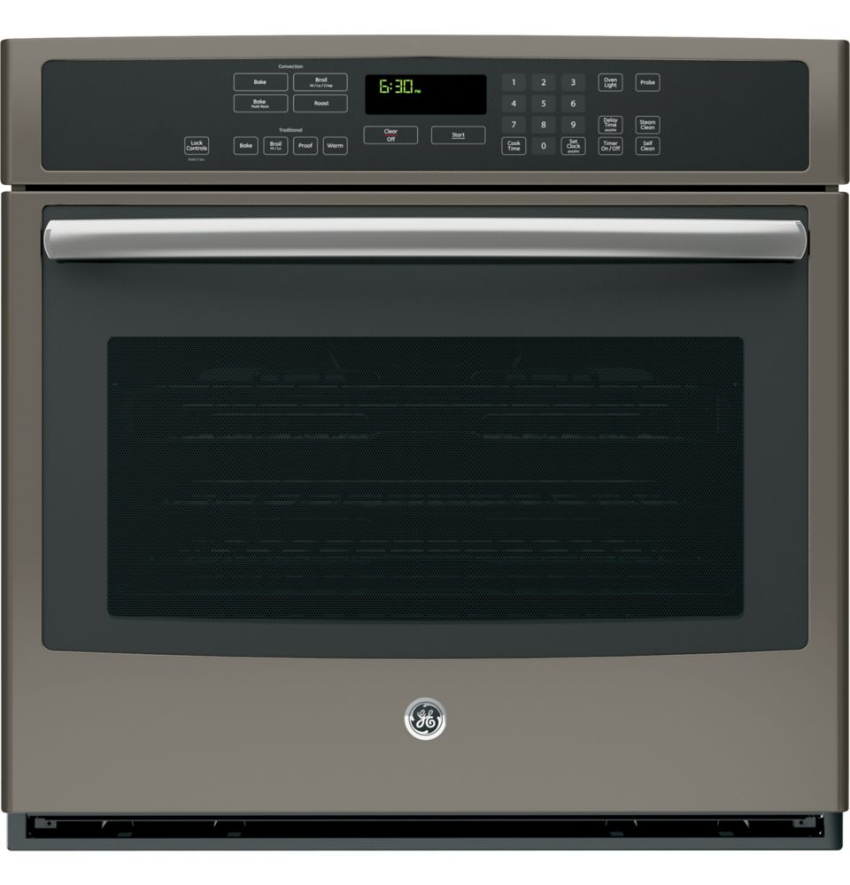 5.0 cu. ft. Electric Self-Cleaning Single Wall Oven with True Convection in Slate