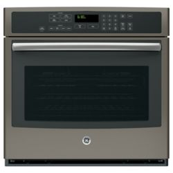 GE 5.0 cu. ft. Electric Self-Cleaning Single Wall Oven with True Convection in Slate