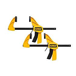 DEWALT 6-inch 100 lb. Trigger Clamps (2-Pack) w/2.43 in Throat Depth