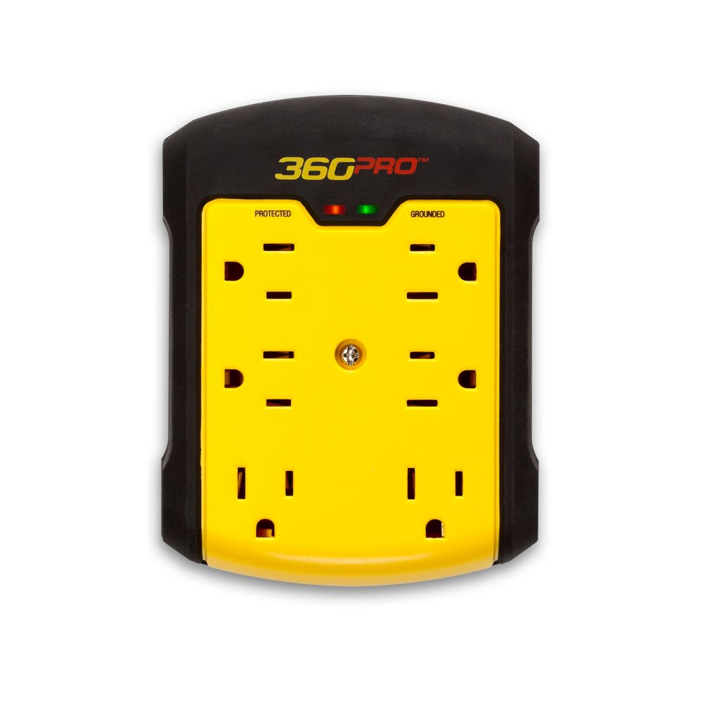 360 Pro 6-Outlet Surge Wall Tap