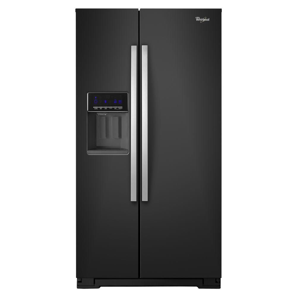 25.6 cu. ft. Side-by-Side Refrigerator with Temperature Control in Black