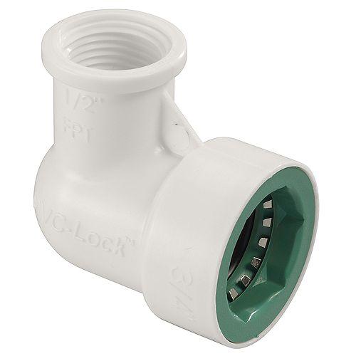 Orbit 3/4-inch x 1/2-inch FPT PVC-Lock Elbow