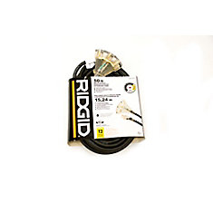 OUTDOOR EXTENSION CORD 12 GA. 50FT FANTAIL LITED END