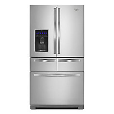 36-inch W 26 cu. ft. Multi-Door French Door Refrigerator in Stainless Steel