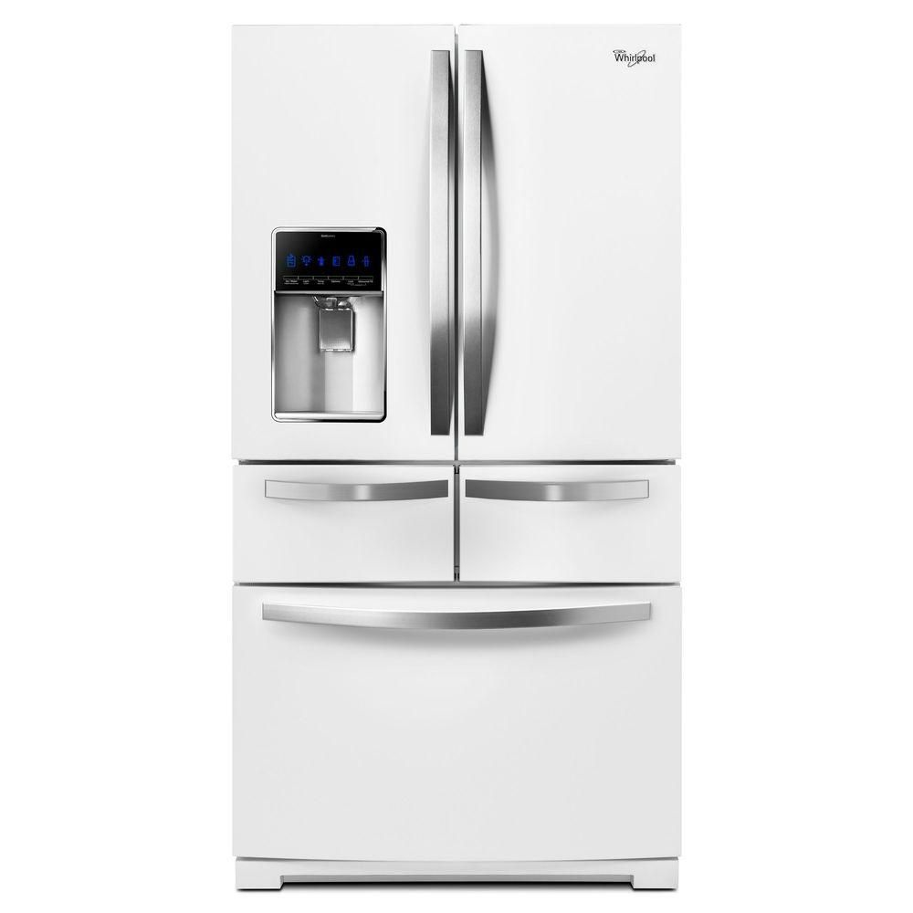 25.8 cu. ft. French Door Refrigerator with Temperature Controlled Drawer in White