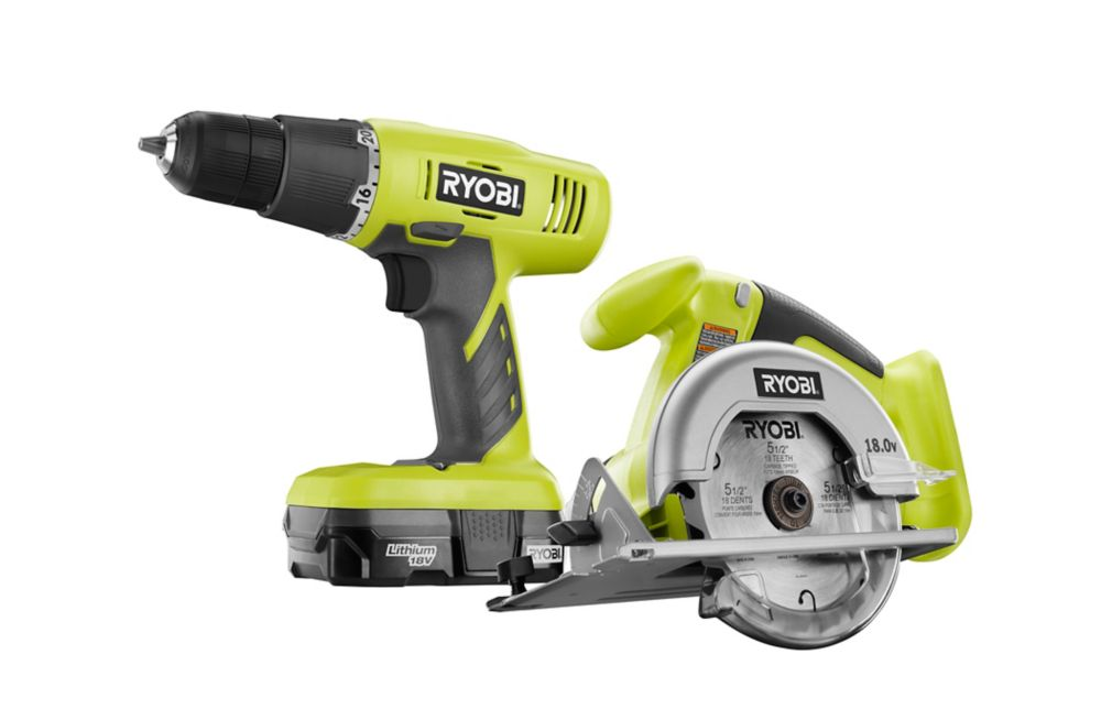 One+ 18v Lithium-Ion Drill/Driver And Circular Saw Kit