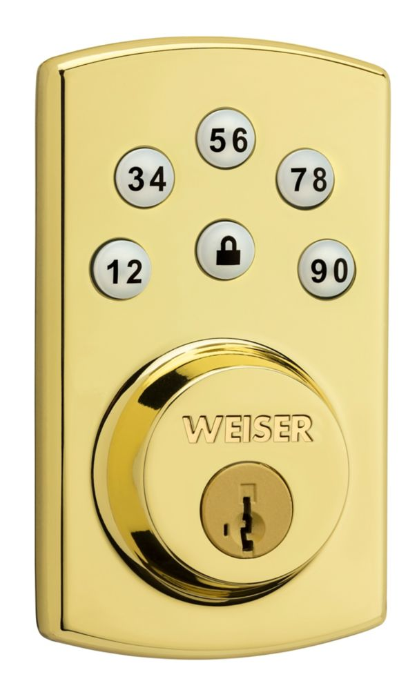 Powerbolt 2.0 Brass Keyless Entry Deadbolt