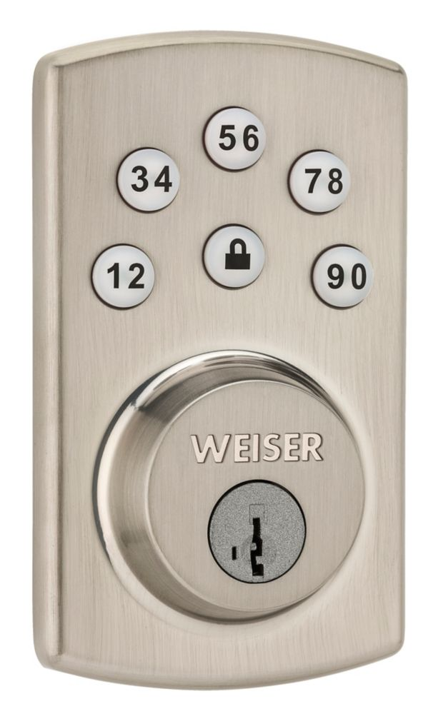 Powerbolt 2.0 Deadbolt Lock in Satin Nickel