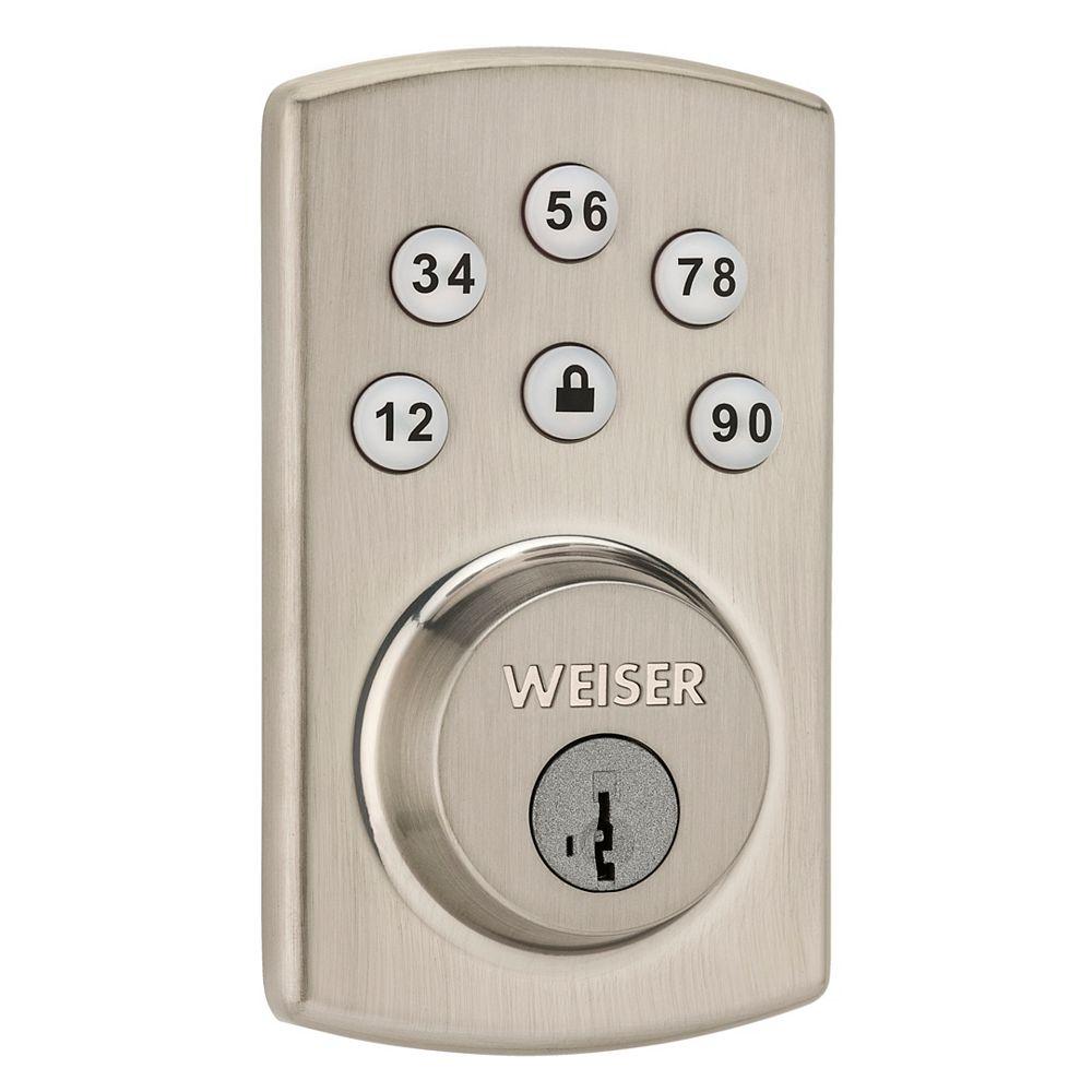 Weiser Powerbolt 2.0 Deadbolt Lock in Satin Nickel