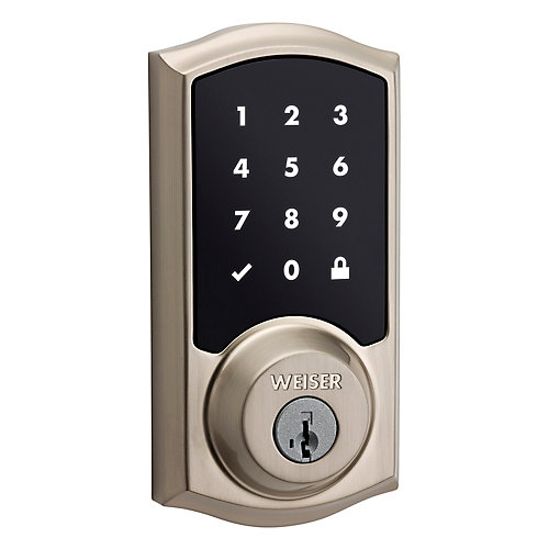 Smartcode 10 Satin Nickel Keyless Entry Touchscreen Electronic Deadbolt