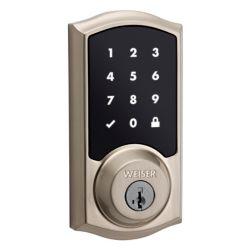 Weiser Smartcode 10 Satin Nickel Keyless Entry Touchscreen Electronic Deadbolt