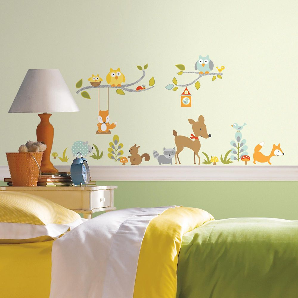 Woodland Fox Peel & Stick Wall Decals