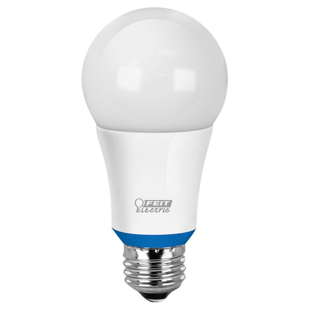 Ampoule à DEL A19 intelligente compatible Bluetooth, réglable avec l'application HomeBrite, d'un ...