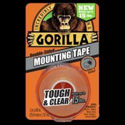 Gorilla Glue Ruban de Montage Résistant et Transparent