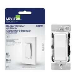 Leviton Universal rocker dimmer with slide bar
