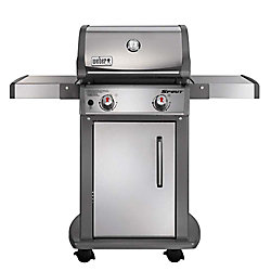 Weber Spirit S-210 2-Burner Propane Gas BBQ in Stainless Steel with Built-In Thermometer
