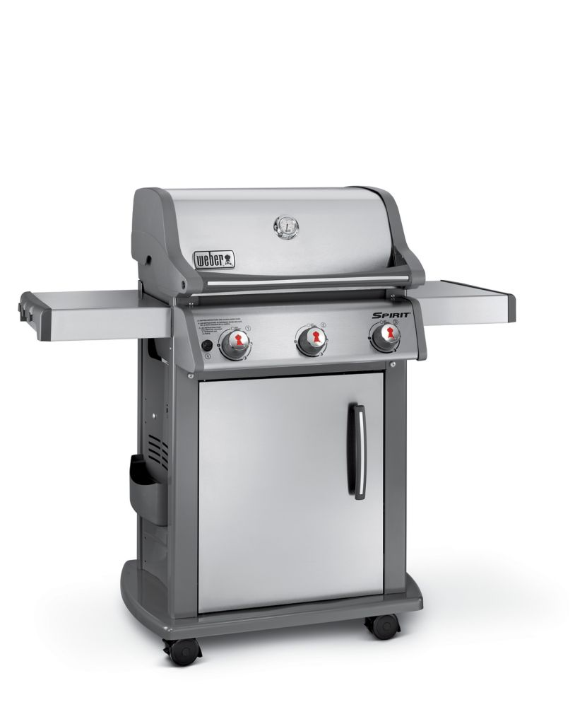 weber spirit sp 310 lp gas bbq in stainless steel the home depot canada. Black Bedroom Furniture Sets. Home Design Ideas