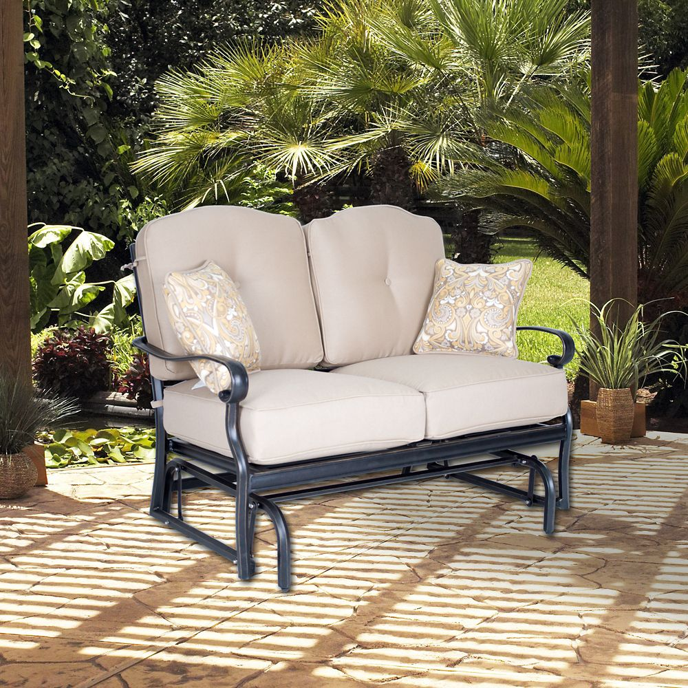 Foremost casual harmony loveseat glider the home depot for Foremost homes price list