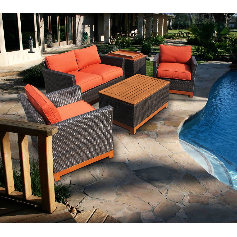 Foremost casual metropolitan 5 piece outdoor conversation for Foremost homes