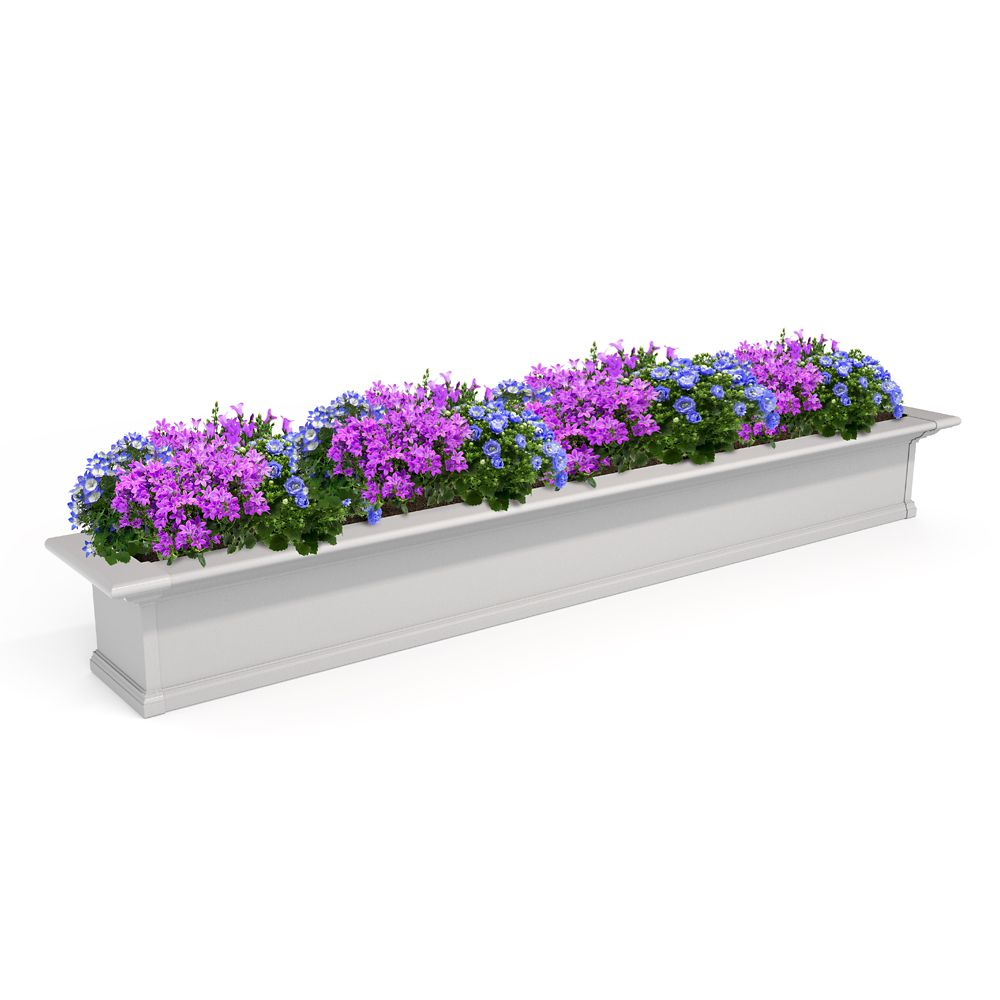 Mayne 12-inch x 84-inch White Yorkshire Window Box