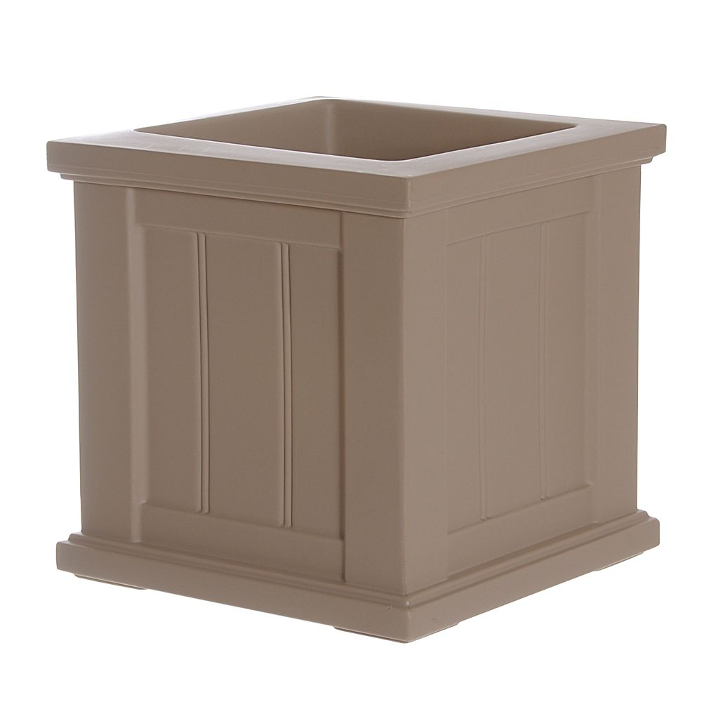 Cape Cod Patio Planter 14x14 Clay