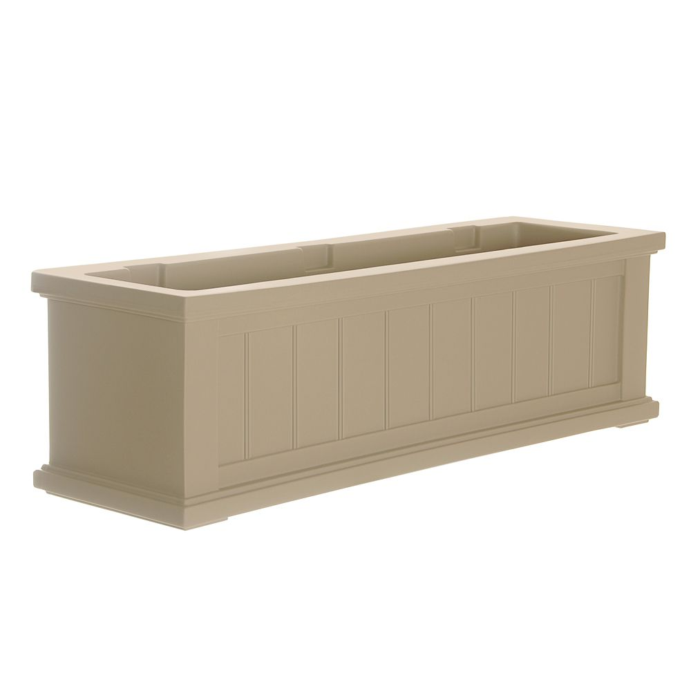 mayne cape cod window box 3ft clay the home depot canada