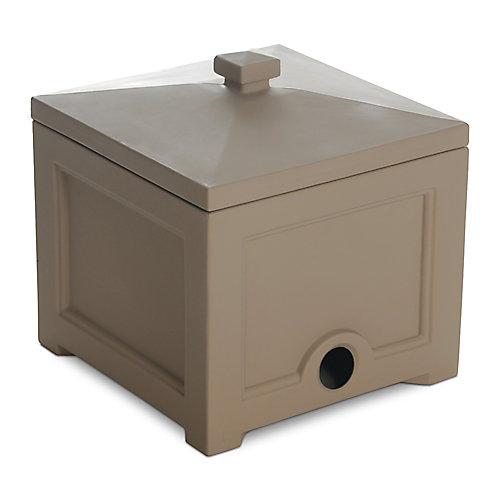 Fairfield Garden Hose Bin in Clay for up to 100 ft. of Hose
