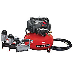 22.7 L 150 PSI Portable Electric Air Compressor, 2 Nailers, and 3/8-inch Stapler Combo Kit (3-Tool)