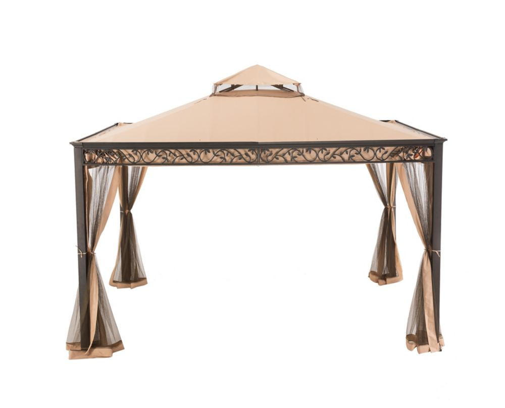 Riana 10 ft. x 12 ft. Gazebo with Vented Canopy