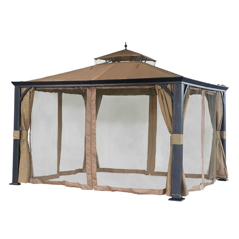 Cross Hill 10 ft. x 12 ft. Gazebo with Vented Canopy