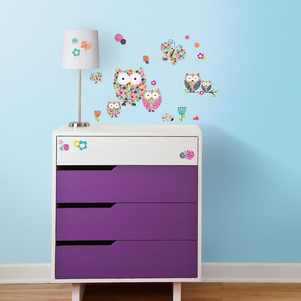 Prismatic Owls Peel & Stick Wall Decals