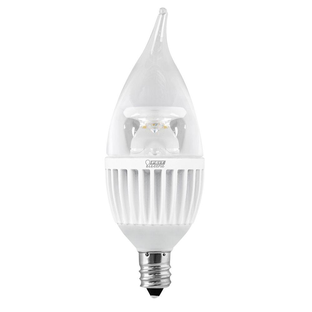 LED ECOSMART E12 FLAME TIP 60W, SW