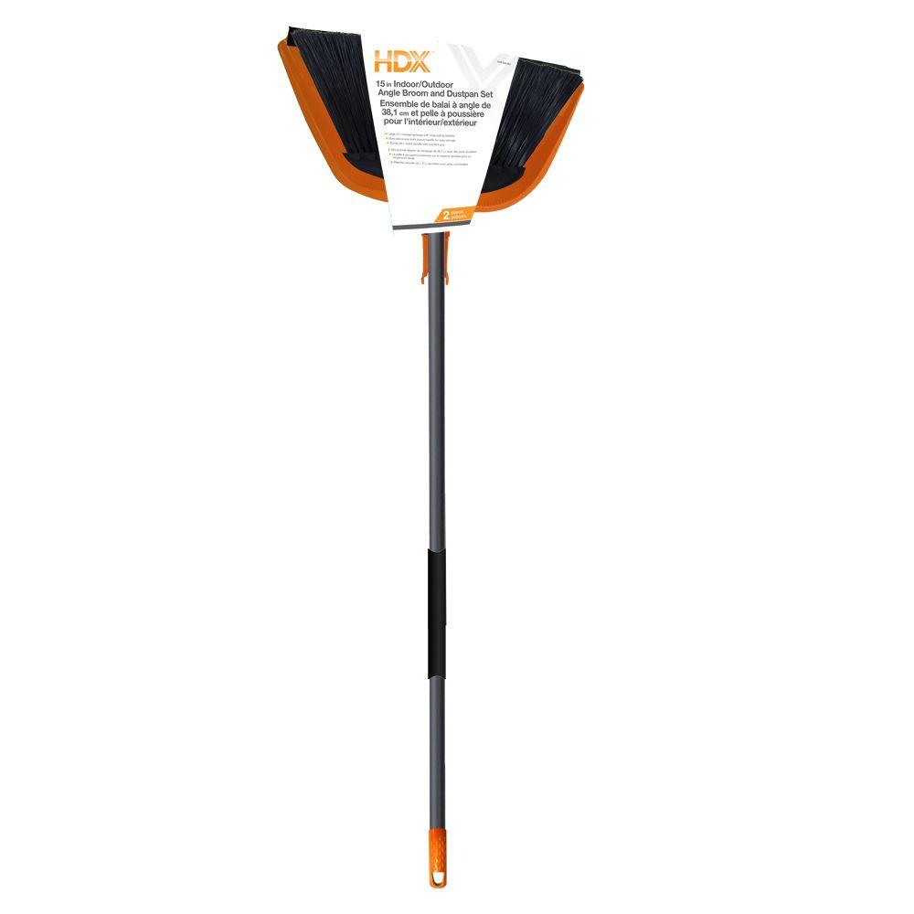 HDX Jumbo 15-inch Angle Broom with Dustpan