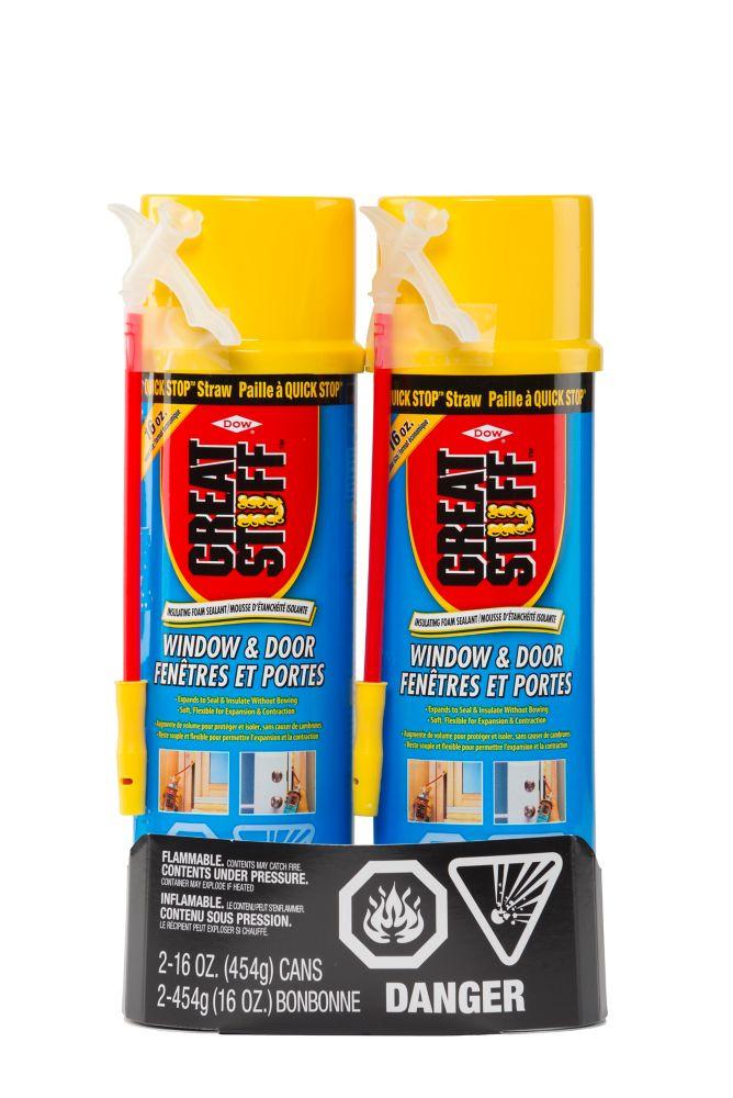 GREAT STUFF Window & Door 454g Insulating Foam Sealant with  Quick Stop Straw