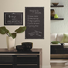 Decorative Chalkboard Peel and Stick Giant Wall Decals