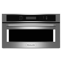 KitchenAid 30-inch 1.4 cu. ft. Built-In Microwave with Convection in Stainless Steel