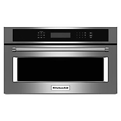 KitchenAid 27-inch 1.4 cu. ft. Built-In Microwave with Convection in Stainless Steel