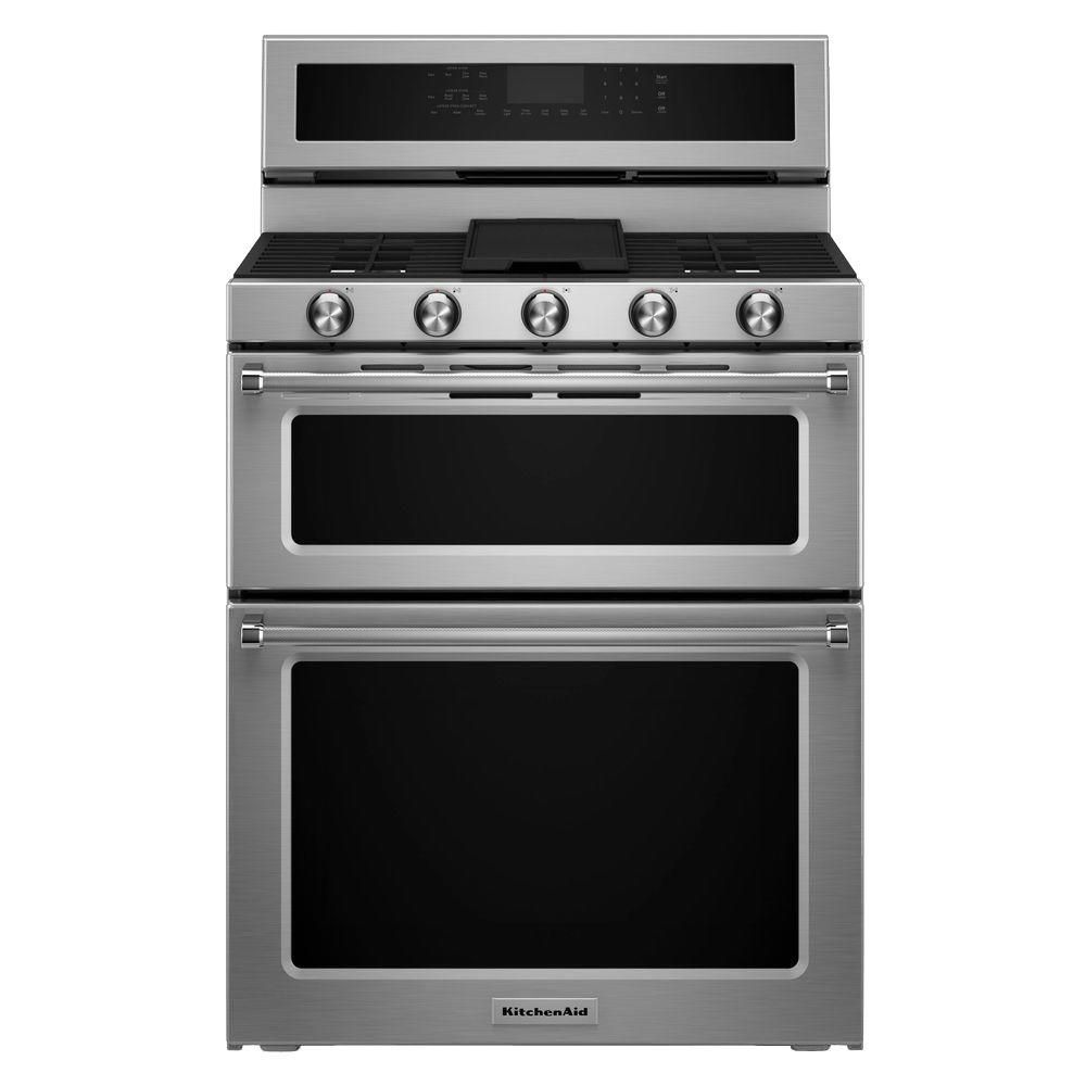 6.7 cu. ft. Dual Fuel Double Oven Convection Range in Stainless Steel