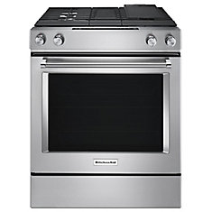 6.3 cu. ft. Slide-In Dual Fuel Range with Downdraft in Stainless Steel