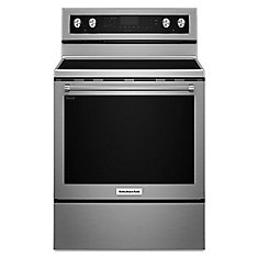 30-Inch 6.4 cu.ft. Single Oven Electric Range with Self-Cleaning Convection Oven in Stainless Steel