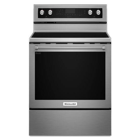 KitchenAid 30-inch 6.4 cu.ft. Single Oven Electric Range with Self-Cleaning Convection Oven in Stainless Steel