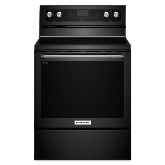 6.4 cu. ft. Free-Standing Electric Convection Range in Black