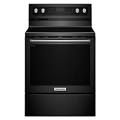 6.4 cu. ft. Electric Range with Self-Cleaning Convection Oven in Black
