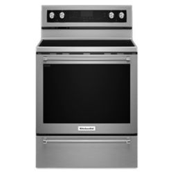 KitchenAid cuisinière électrique de 6,4 pi3 avec four à convection autonettoyant en acier inoxydable