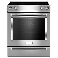 30-inch 6.4 cu. ft. Single Oven Electric Range with Self-Cleaning Convection Oven in Stainless Steel