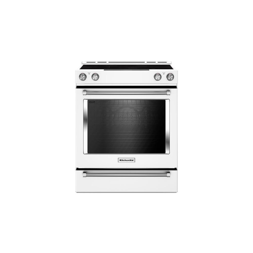 KitchenAid 7.1 cu. ft. Slide-In Electric Range with Self-Cleaning Convection Oven in White