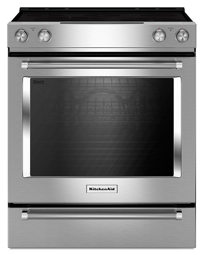 7.1 cu.ft. Electric Range with Self-Cleaning Convection Oven in Stainless Steel