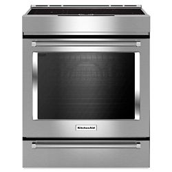 KitchenAid 7.1 cu.ft. Electric Induction Range with Self-Cleaning Convection Oven in Stainless Steel